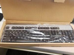 HP Wired USB Keyboard Black/Silver 104-Key  434821-002 NEW