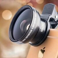 Super HD 53MM 0.45x Wide Angle Lens With 12.5x Macro Lens For Smart Phone Iphone