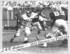 11x14 BILL BROWN Vikings Game vs Packers Dave Robinson Aldridge 1968 Photo