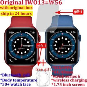 100% original iwo 13 w56 smart watch men 40mm/ 44mm size 1.75 display heart rat