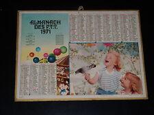 Kalender Ptt - 1971 - Rückkehr von Fest - Kinder - Oller
