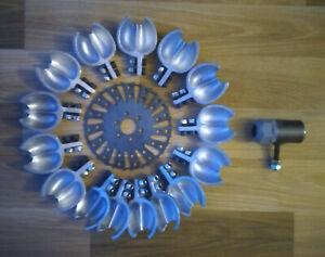 PELTON HYDRO TURBINE ALUMINUM WATER WHEEL ( Ext Dia=300mm & 11.82inch, Nozzle )