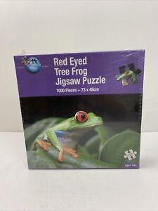 Puzzle World 1000 Piece Jigsaw Red Eyed Tree Frog Sealed