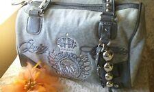 Women Shoulder Purse Juicy Couture Grayish Jacquard Fabric Satchel