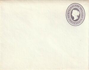Newfoundland Queen Victoria 3c Stationery Envelope Squat 1889