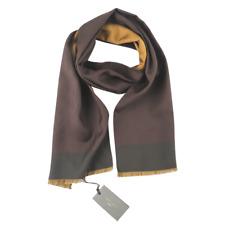 $175 NWT BOGLIOLI Espresso Brown Pink Polka Dot 100% Silk Fashion Scarf