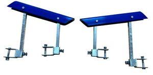 Boat Trailer Bunk Skids 400mm Self Centering Glider Kit 75mm x 75mm. V Guide