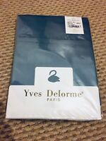 BNWT - NEW - Yves Delorme Fitted Sheet, Blue Petrol Blue. Satin Cotton Beddings