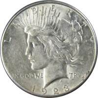 1923 S Peace Dollar AU About Uncirculated 90% Silver $1 US Coin Collectible