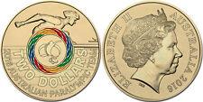 """Australia 2 dollars 2016 """"Paralympic Team"""" COLORED UNC"""
