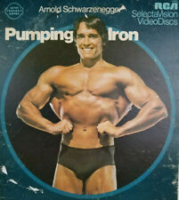Arnold Schwarzenegger Pumping Iron Rare 1977 CED Fitness Movie Video Disc