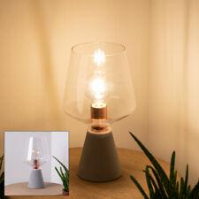Glas Tisch Lampe Beton Strahler VINTAGE Beleuchtung Flur Beistell Leuchte Kupfer
