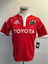 BNWT Adidas Munster Rugby Home 2009-2011 Jersey Red Shirt Brand New Size S