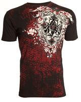 ARCHAIC by AFFLICTION Men T-Shirt ACLE Cross Shield BLACK Tattoo Biker $40 b