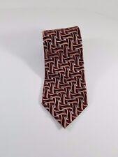 Geoffrey Beene Men's Dark Red/Black Polyester Neck Tie