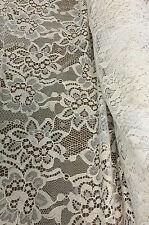 V-S02150 Exquisite Italian biege lace Viscose Silk per Yard