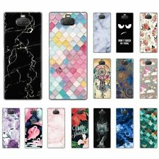 For Sony Xperia 10 Plus L3 Shockproof Soft Silicone Clear Painted TPU Case Cover