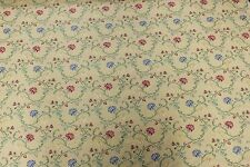 3 1/3 YARDS MULTI-COLORED FLORAL JACQUARD Upholstery Fabric Victorian French