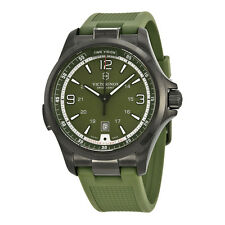 Victorinox Night Vision Olive Green Dial Rubber Strap Mens Watch 241595