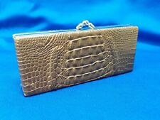 Vintage Real Genuine Authentic Alligator Or Crocodile Leather Glass Or Sun Case