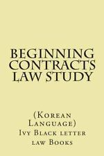 Beginning Contracts Law Study : (Korean Language) by CaliforniaBar Help.com...