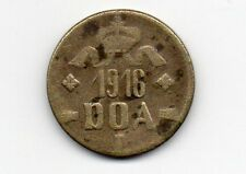 D.O.A.TANGANYIKA 1916 EMERGENCY TABORA  TWENTY HELLER BRASS COIN TYPE B-B DOA114