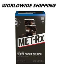Met-Rx Big 100 Super Cookie Crunch Meal Replacement Bar 4 Ct WORLDWIDE SHIPPING