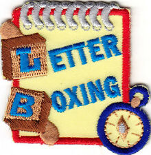 """""""LETTER BOXING"""" -  Iron On Embroidered Patch - Hobby - Game - Treasure Hunting"""