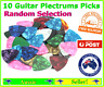 10x Guitar Plectrums Picks Pick Random selection cool designs quality