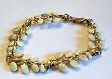 Vintage Tan Enamel Swag Bracelet