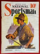 Aug 1932 National Sportsman hunting fishing magazine moose trout musky canoeing