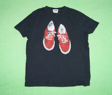 Abercrombie & Fitch navy blue t-shirt with shoes logo for boy size S cotton