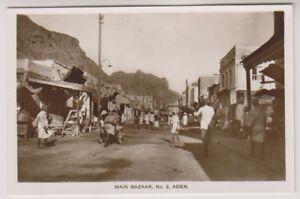 Aden postcard - Main Bazaar, Aden - (A7)
