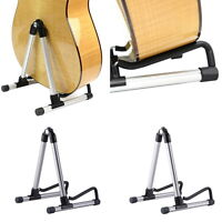 Folding Electric Acoustic Bass Guitar Stand A Frame Floor Rack Holder LN