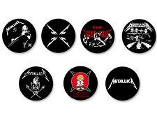 Lot Pack Badge Button Ø38mm Metallica Heavy Thrash Metal USA