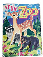 Vintage Merrill Co Publishing Lg Paperback Book At The Zoo 1535