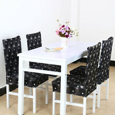 1/4/6pcs Removable Chair Covers Protector Stretch Slipcovers Short Dining Gift S036 1pcs