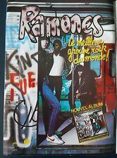 Publicité advert advertising tour THE RAMONES 1983 Lp album subterranean jungle