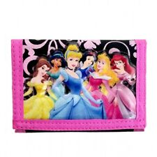 Disney Princess Black/Pink FCJ Girls Kids Trifold Kids Wallet