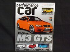 PERFORMANCE CAR MAGAZINE ISSUE 22 DECEMBER 2009. BMW M3 GTS. LEXUS LFA. CLIO RS