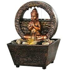 """Newport coast collection Small Tranquil Buddha LED Water Fountain 7.2""""..."""