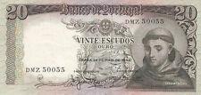 BILLET BANQUE PORTUGAL 20 ESCUDOS 1964 SANTO ANTONIO état voir scan 055