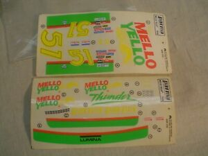NOS Parma RACING DECALS - MELLO YELLOW Cox Aurora