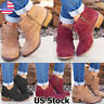 Women's Tassel Ankle Boots Zip Up Round Toe Ladies Block Heel Casual Boots Shoes
