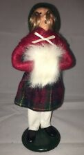 Vintage Byers Choice 1989 Female Fuzzy White Muff Caroler Christmas