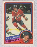 1984 85 O Pee Chee Chris Chelios RC #259