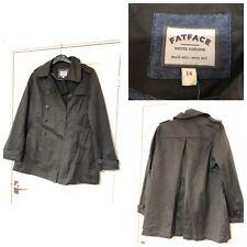 FAT FACE  Black Coat Jacket Size 14 Women Spring (B446)
