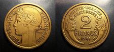 IIIème république - 2 francs Morlon 1941 TTB/SUP ! F.268/14