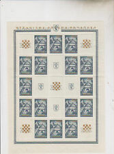 CROATIA,WWII ,EXPO 1941,golden ovpt sheet set,only 3500 sheets set exist,MNH