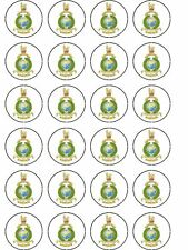 24 X ROYAL MARINES BIRTHDAY RICE PAPER CAKE TOPPERS